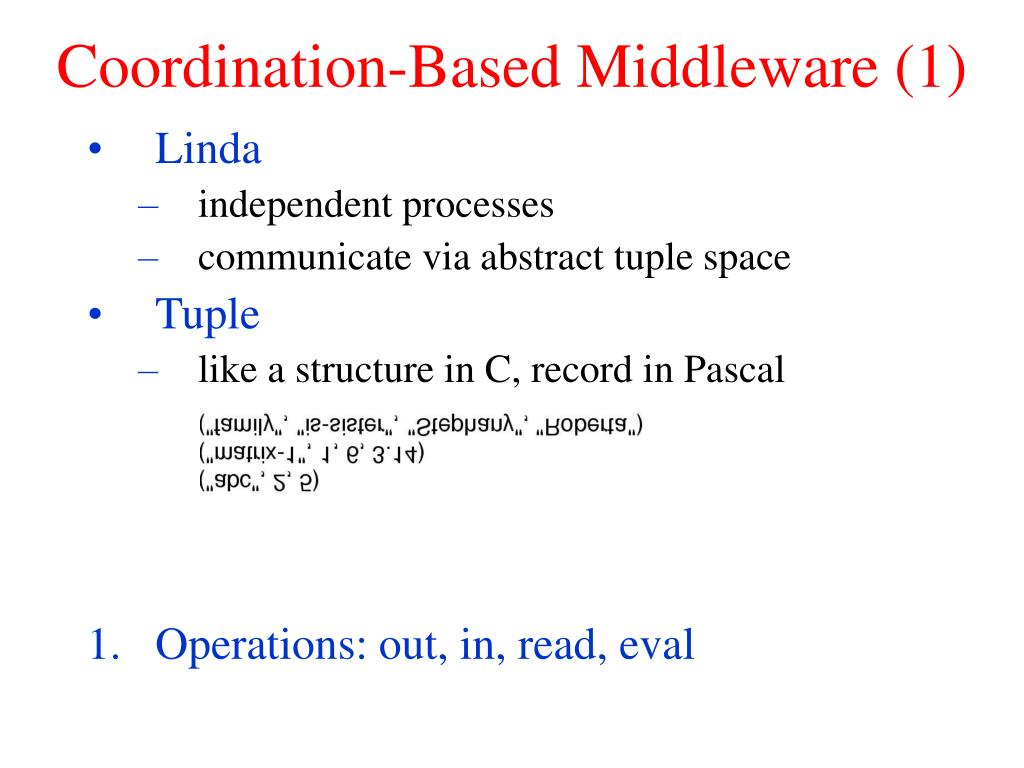 Coordination-Based Middleware (1)