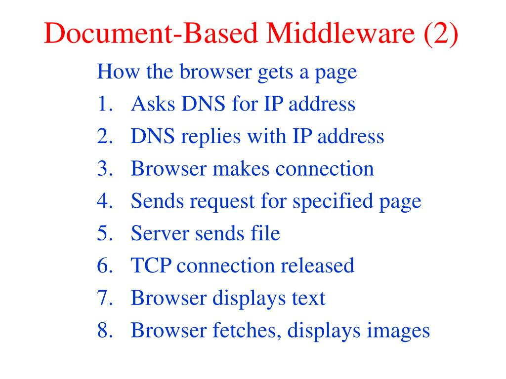 Document-Based Middleware (2)