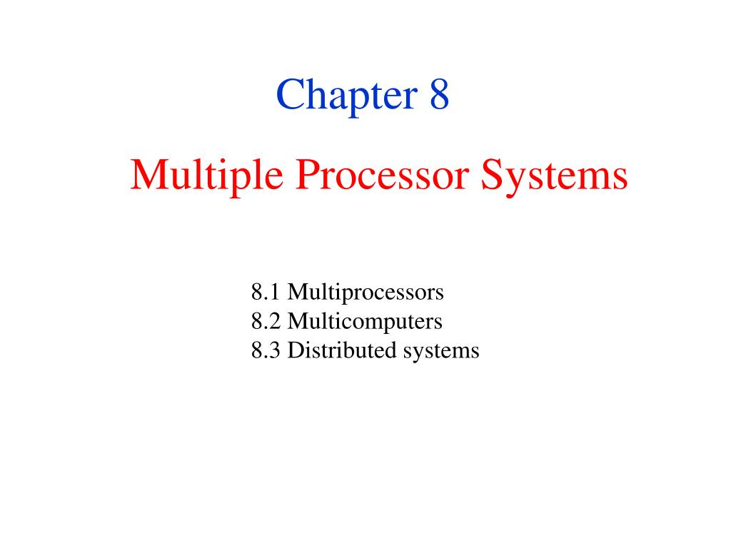 multiple processor systems l.