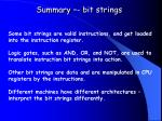 summary bit strings