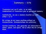 summary bits