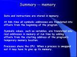 summary memory