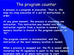 the program counter