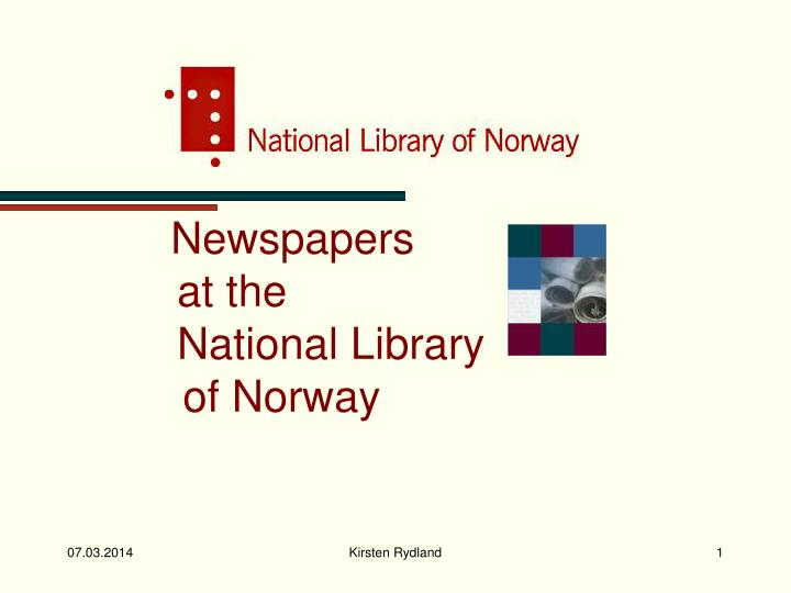 newspapers at the national library of norway n.