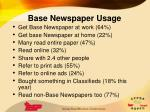 base newspaper usage