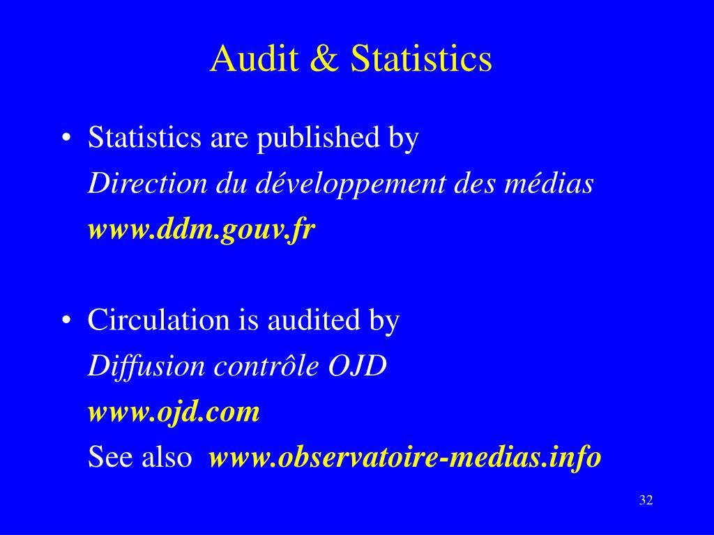 Audit & Statistics
