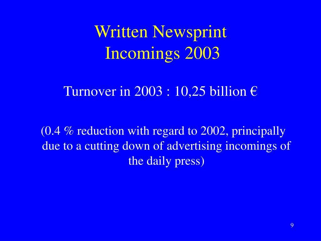 Written Newsprint
