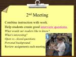 2 nd meeting