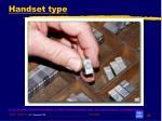 handset type