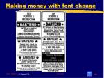making money with font change