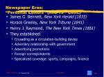 newspaper eras personal editors mid 19 th cent