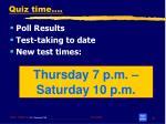 quiz time4