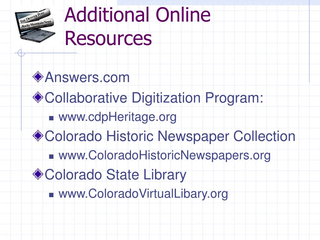 Additional Online Resources