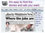 it s easy to find the stories and ads you want