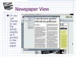 newspaper view