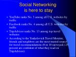 social networking is here to stay