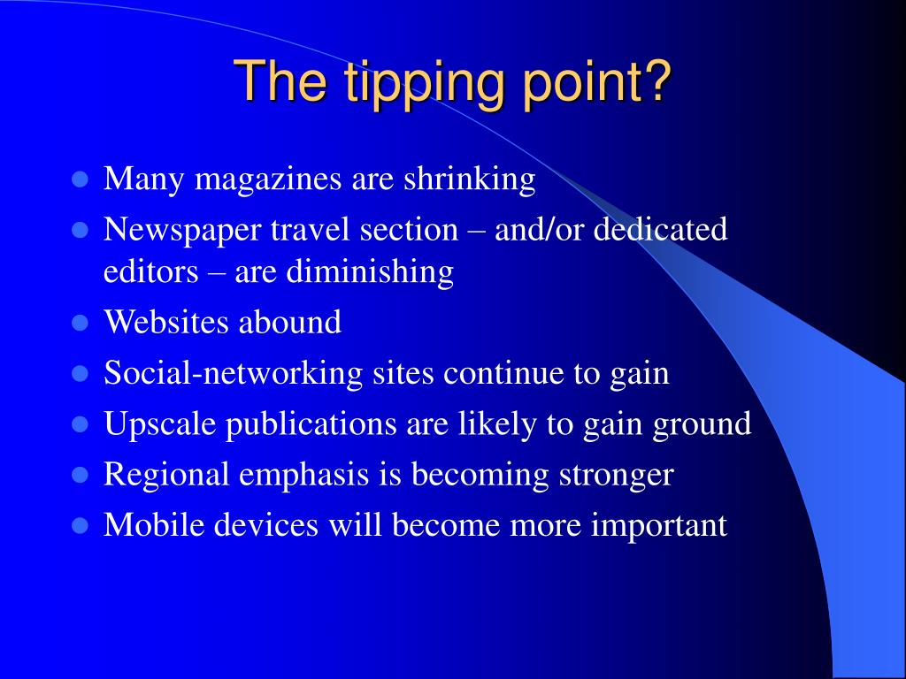 The tipping point?