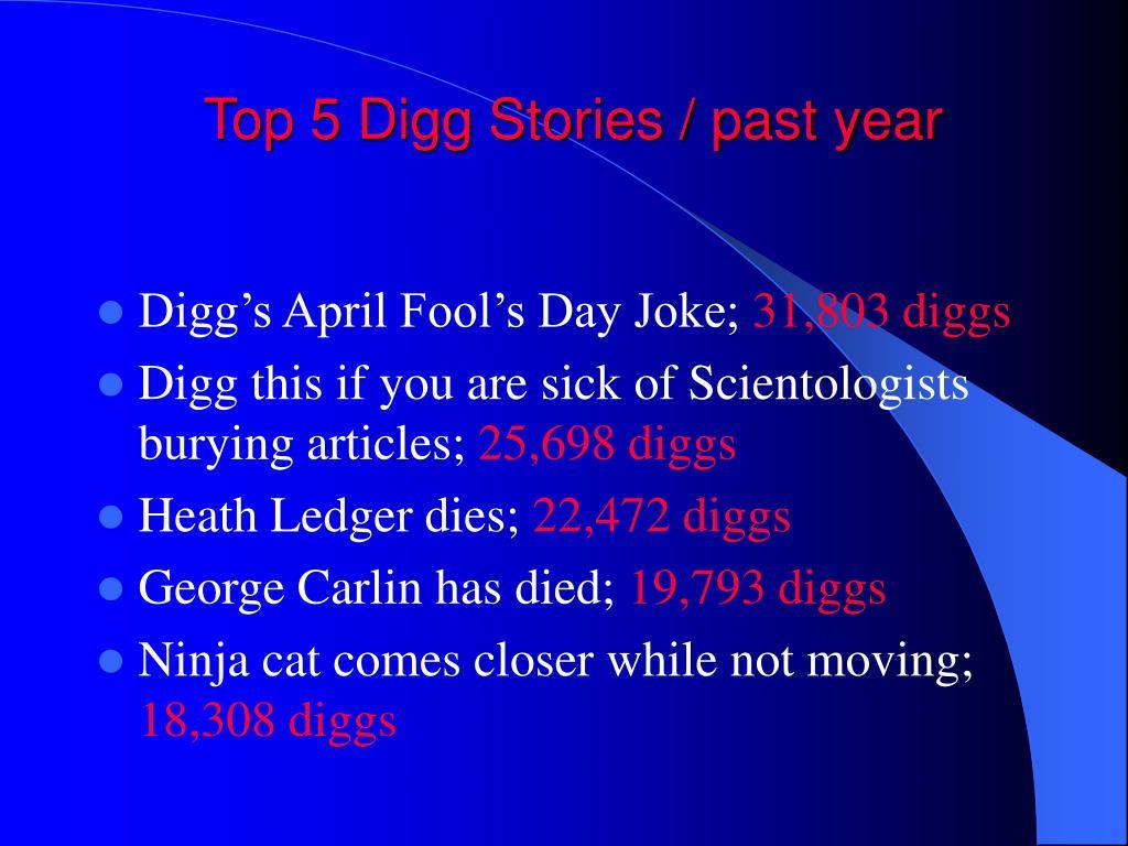 Top 5 Digg Stories / past year