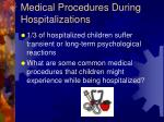 medical procedures during hospitalizations