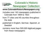 colorado s historic newspaper collection