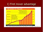 1 first mover advantage
