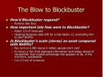the blow to blockbuster