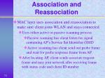 association and reassociation