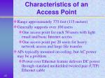 characteristics of an access point
