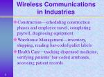 wireless communications in industries8