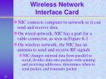 wireless network interface card