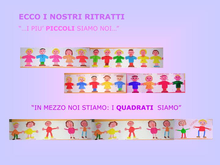 ECCO I NOSTRI RITRATTI