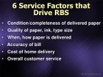 6 service factors that drive rbs