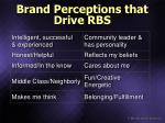 brand perceptions that drive rbs