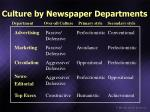 culture by newspaper departments