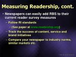 measuring readership cont