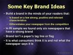 some key brand ideas