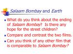 salaam bombay and earth