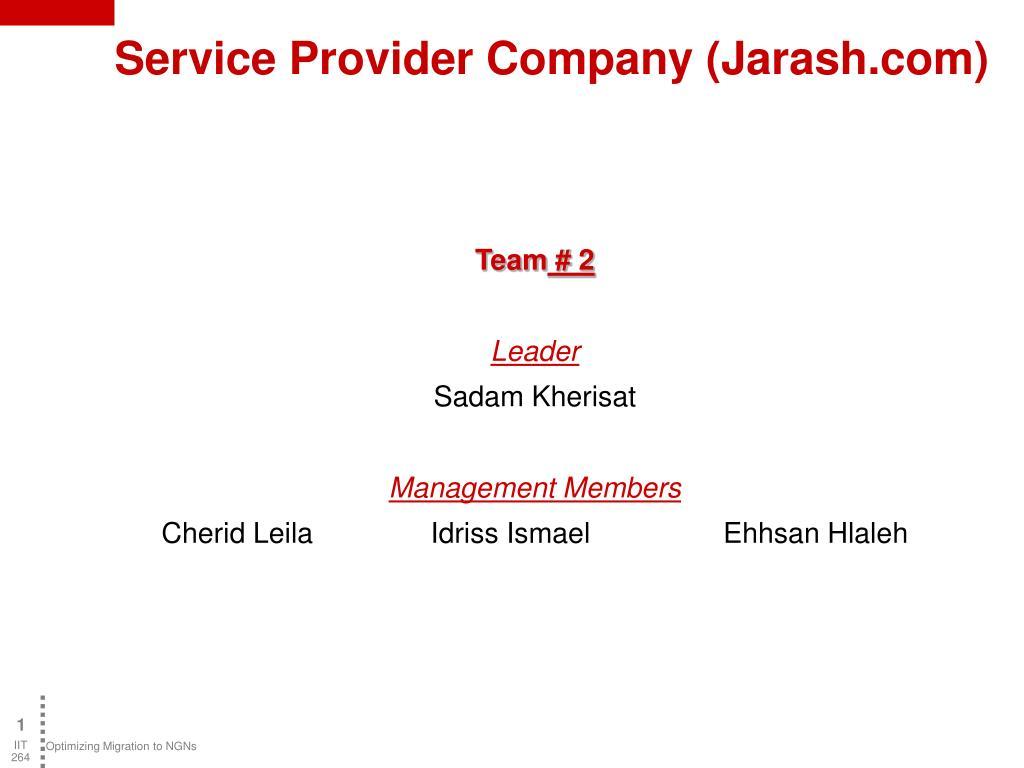service provider company jarash com l.