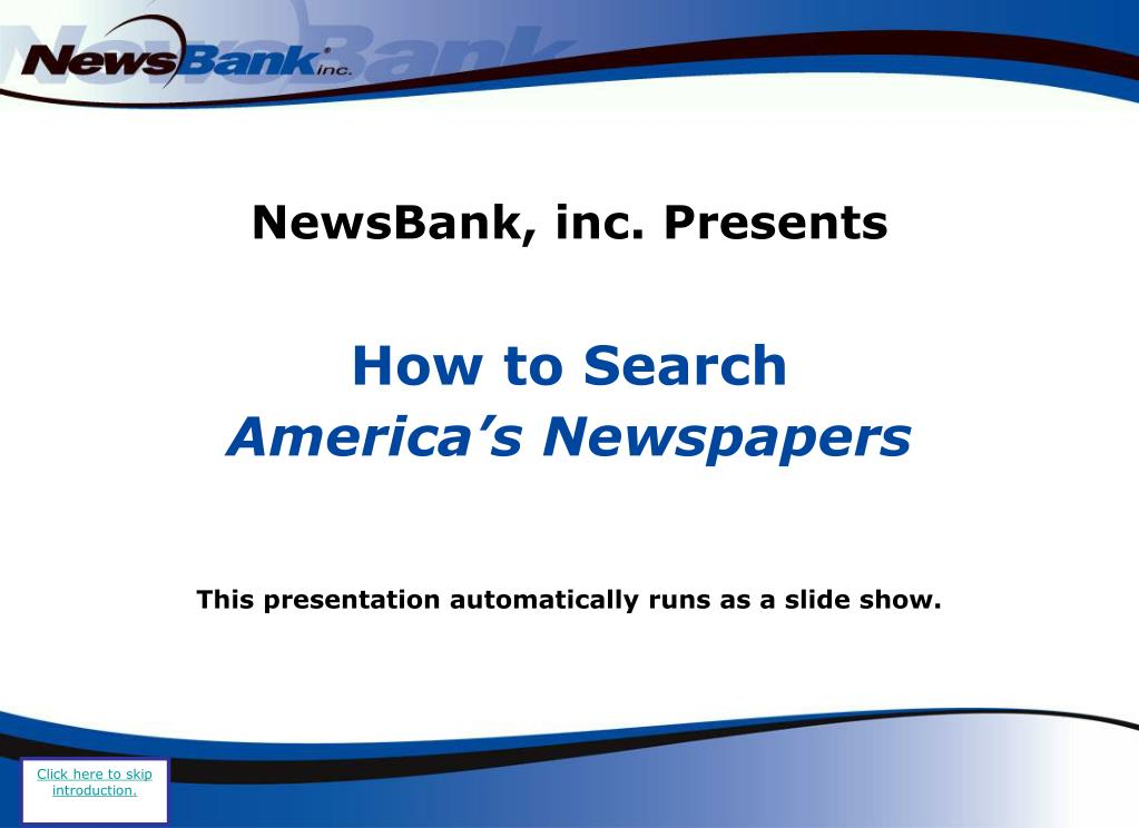 newsbank inc presents l.
