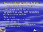 overview of washington state perinatal hepatitis b prevention program