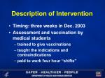 description of intervention