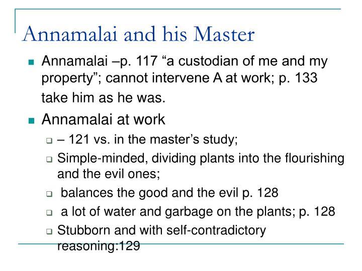 Annamalai and his Master