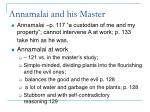 annamalai and his master