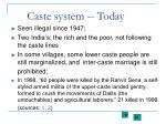 caste system today
