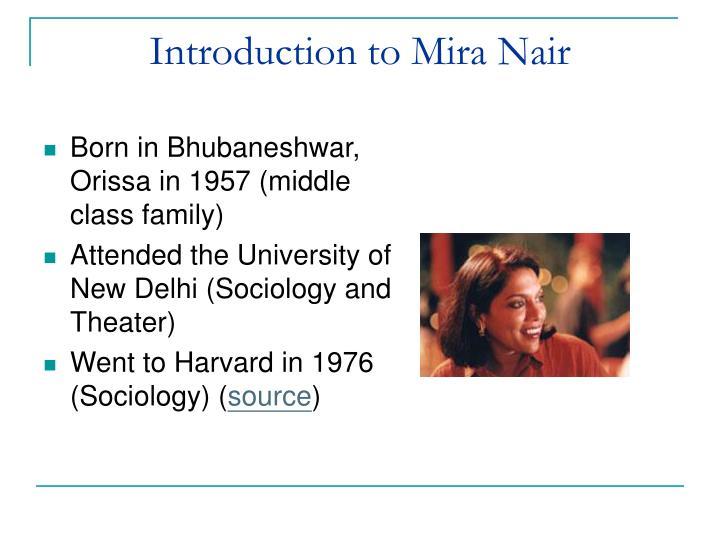 Introduction to Mira Nair