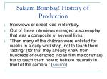 salaam bombay history of production