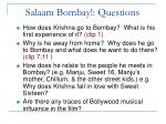 salaam bombay questions