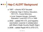 hep c alert background