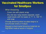 vaccinated healthcare workers for smallpox92
