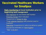 vaccinated healthcare workers for smallpox93